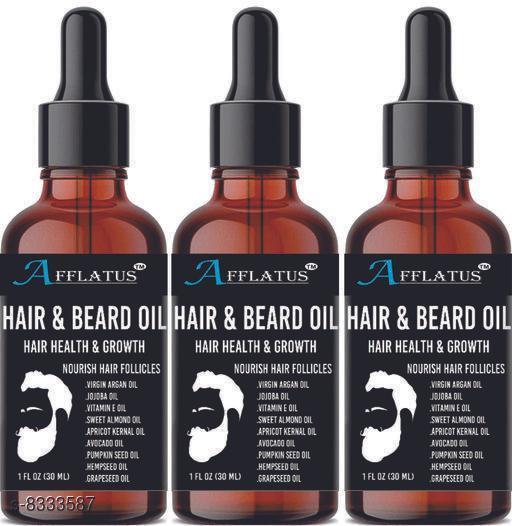 Afflatus Natural & Organic Advanced Beard Growth Oil Pack of 3