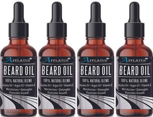 Afflatus Beard Growth and Mooch Hair Growth Oil Pack of 4