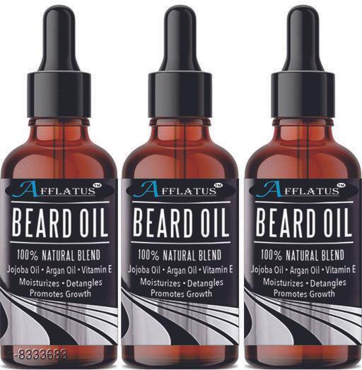 Afflatus Beard Growth and Mooch Hair Growth Oil Pack of 3