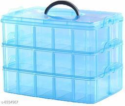 Jewelry Box - 3 Layer 30 Grids Jewelry Storage Box