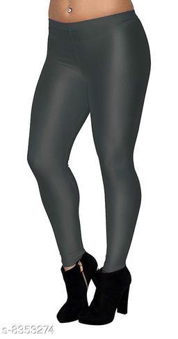 Beautiful Grey Shiny Leggings for Women's