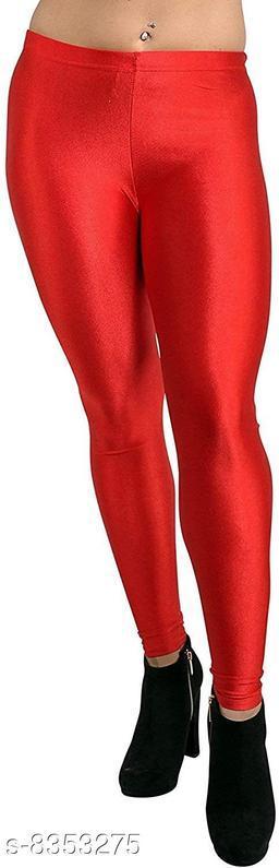 Beautiful Red Shiny Leggings for Women's