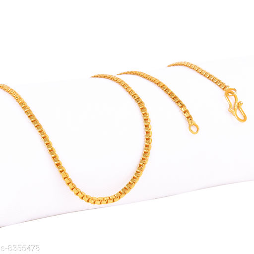 Fashion Frill Trendy And Fancy Box Pattern  Double Coated Chain For Men/Women