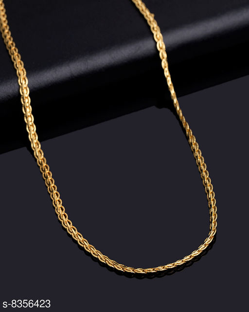 Fashion Frill Trendy And Fancy  Designer Double Coated Light Weighted Chain For Girls / Women