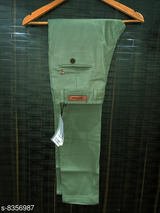 fashlook light  mehndi casual pant for men