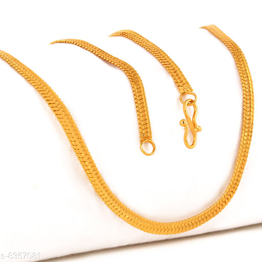 Stylish Gold Plated Golden Chain For Men