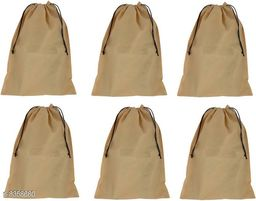 DIMONSIV Pack Of 6 Non Woven Shoe Pouch(beige)