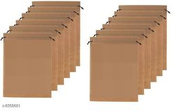 DIMONSIV Pack Of 12 Non Woven Shoe Pouch(Beige)