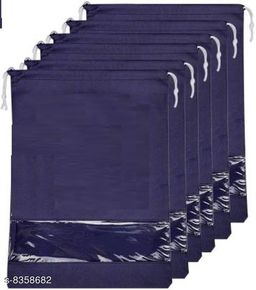 DIMONSIV Pack Of 6 Shoe Pouch(Navy Blue)