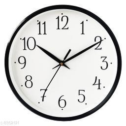 Masstone Shraddha Series Black Round Wall Clock