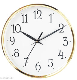 Masstone Shraddha Series Gold Round Wall Clock