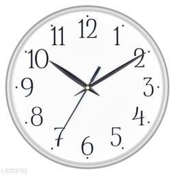 Masstone Shraddha Series Silver Round Wall Clock