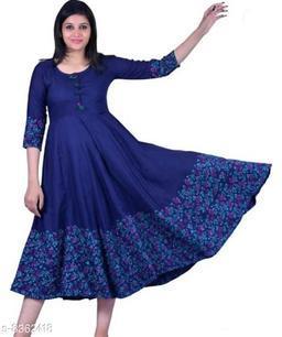 Krishna Ethnicity 3/4 Sleeves Maxi Dress