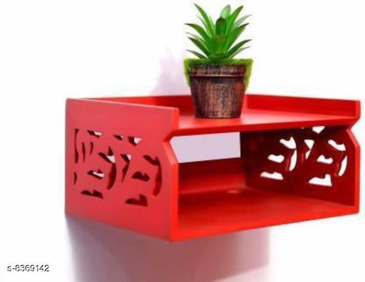 TV Setup Box & Remote Stand Wooden Wall Shelf Wooden Wall Shelf
