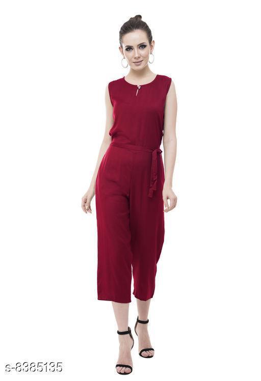 Japrose Designer Boutique Solid Jumpsuit For Women