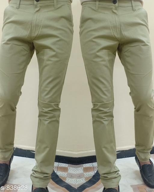 Stylish Denim Solid Trousers