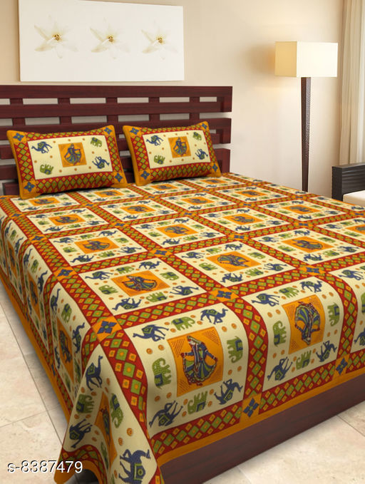 Attractive cotton Printed Bedsheet