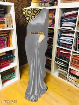 Fancy Designer Satin Saree