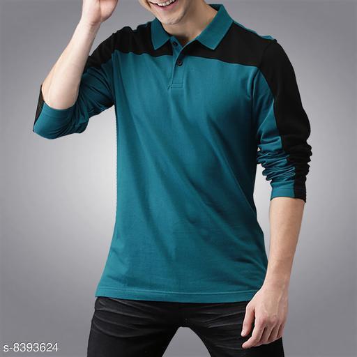 Seven Rocks 100% Cotton Regular Fit  Polo Neck Full Sleeve Men's T-Shirt