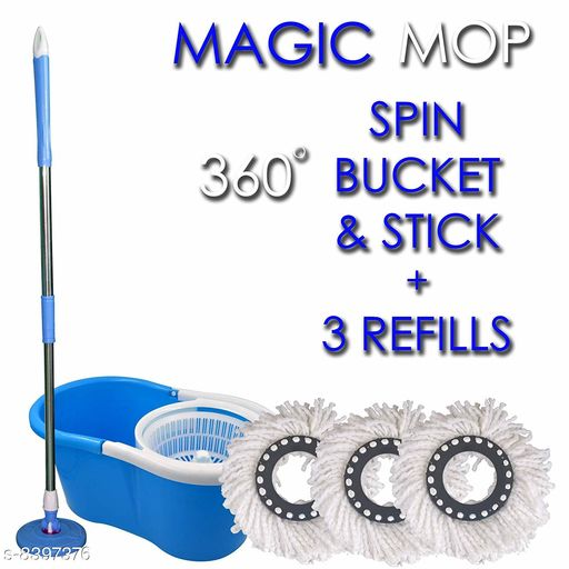Plastic Bucket Mop set with 3 Refill