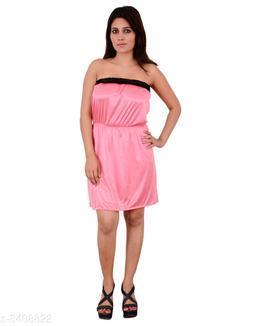 Satin Night Shorts  Pink
