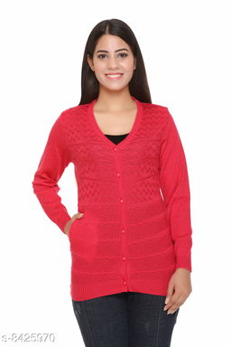 FASHSTORE Women's Full Sleeve Button Cardigan