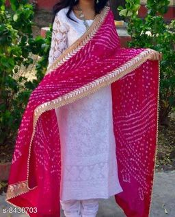 Rajasthani Bhandhni Bhandhej Art Silk Dupatta