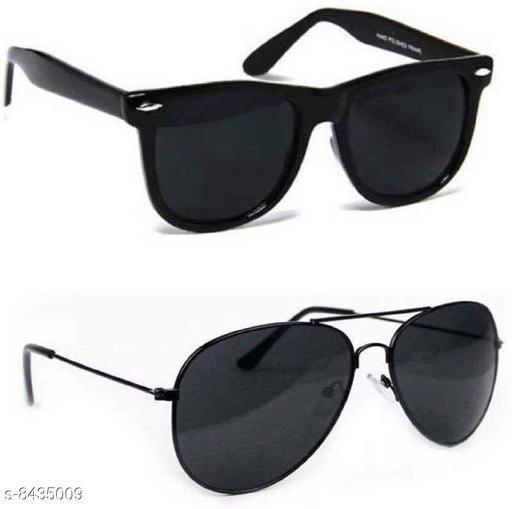 Stylish Men's Combo Black Sunglasses
