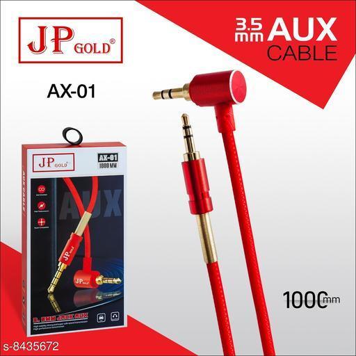 3.5 MM Metal AUX Cable (1 M) 1000 mm long