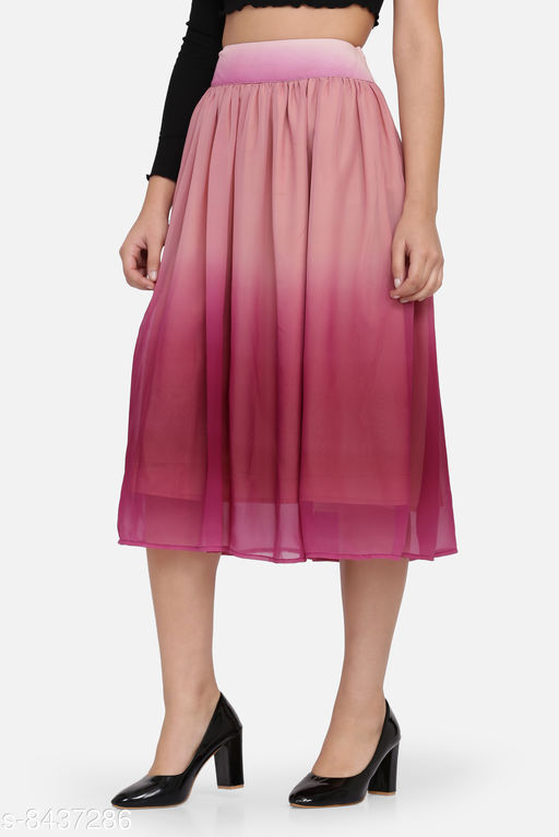 Jaconet Apparel Stylish Ombre Skirts for women