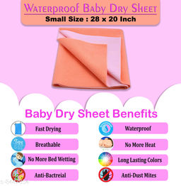 Glassiano New Born Waterproof Bed Prodector Sheet, Small Size