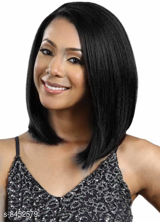 Hair Accessories WIGS  *Product Name* WIGS  *Color* Black  *Multipack* 1  *Sizes Available* Free Size *    Catalog Name:  Proffesional Artifical Hair Extensions CatalogID_1423826 C72-SC1088 Code: 7781-8452579-