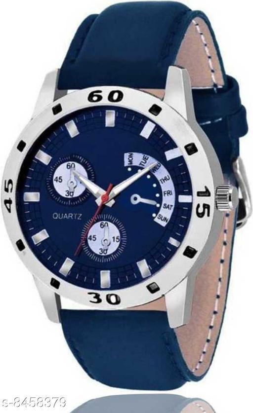 Vwatch Casual Analogue Blue dial Blue strap watch for Men - VekW_Blue Avio