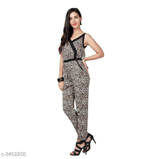 Pick and move crepe jumpsuit