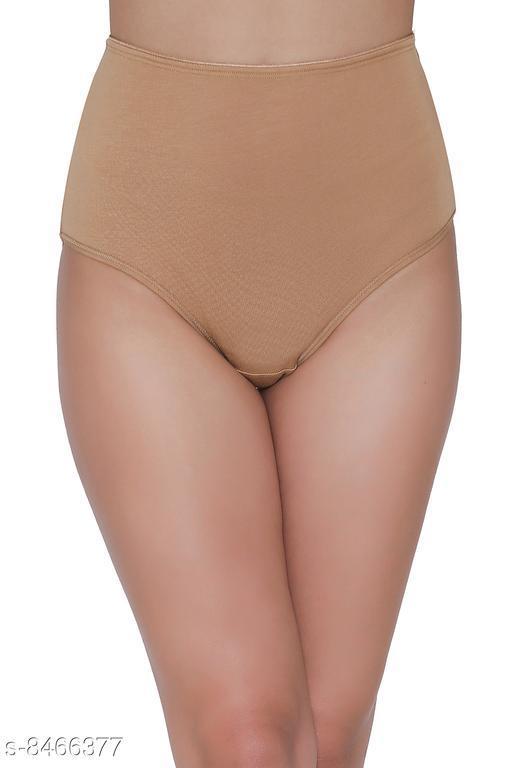 Clovia Modal High Waist Hipster Panty In Nude