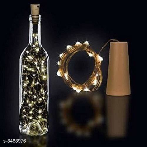 GreenFinch LED Wine Bottle Cork Lights Copper Wire String Lights 2M Battery Operated Wine Bottle Warm White 1 Units
