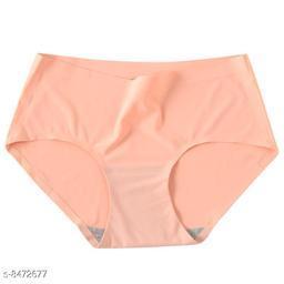 Women Seamless Yellow Silk Panty