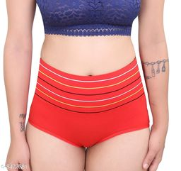 Women Seamless Red Silk Panty