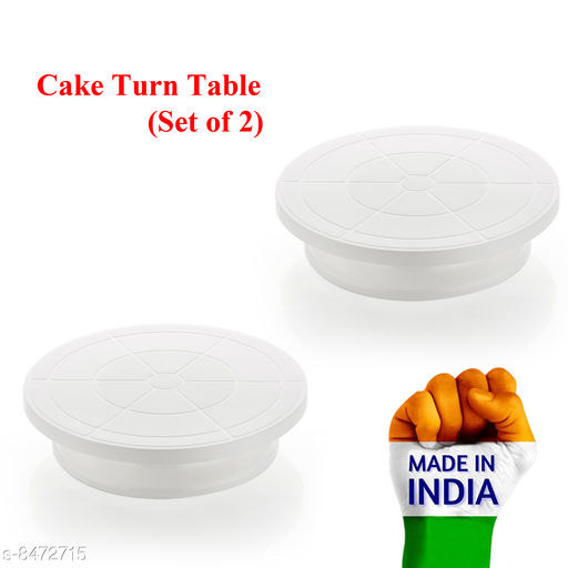 Other Cake Rotating Turn Table  *Material* Plastic  *Pack* Pack of 2  *Sizes Available* Free Size *    Catalog Name: Wonderful Cake Stands CatalogID_1428595 C103-SC1807 Code: 055-8472715-