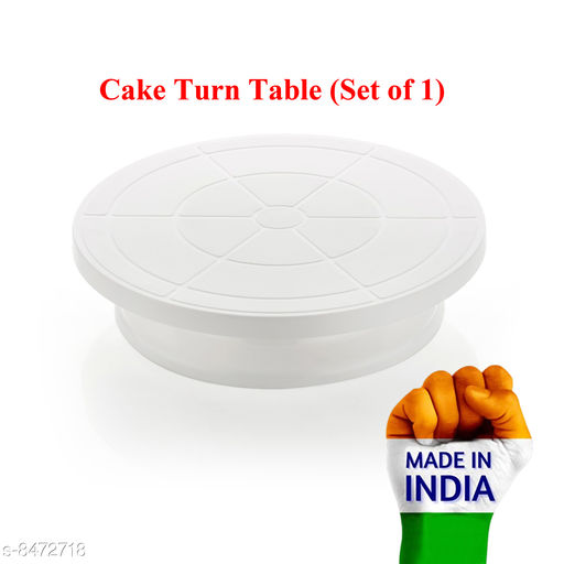 Other Cake Rotating Turn Table  *Material* Plastic  *Pack* Pack of 1  *Sizes Available* Free Size *    Catalog Name: Wonderful Cake Stands CatalogID_1428595 C103-SC1807 Code: 083-8472718-