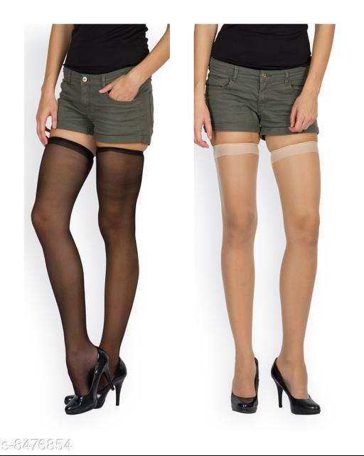 Comfy Stylish Nylon Stockings(pack of 2)