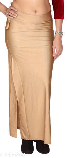 Comix Women Lycra Fabric Comfort Fit Long Length Plain Shiney Petticoat Shapewear (Beige,3XL)