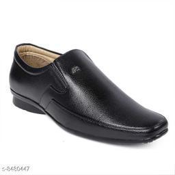 Runway Shoe Men's Black Partywear Synthetic Slip on Formal Shoe