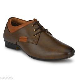 Runway Shoe Men's Brown Perfect Style Synthetic Lace up Formal Shoe