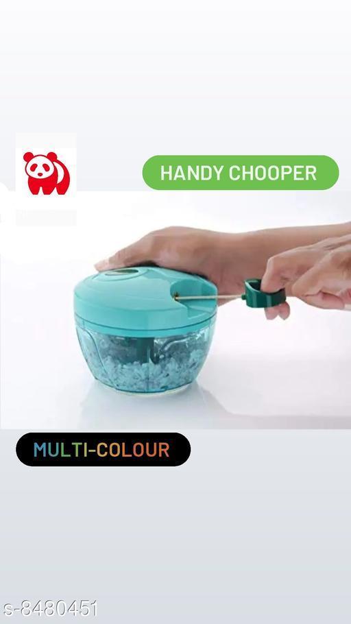 Handy Chopper,  Vegetable Fruit Nut Onion Chopper, Hand Meat Grinder Mixer Food Processor Slicer Shredder Salad Maker Vegetable Tools (450 ML) MULTI-COLOURS