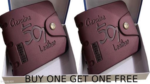 Trendy Men's Combo Maroon Leather Wallet