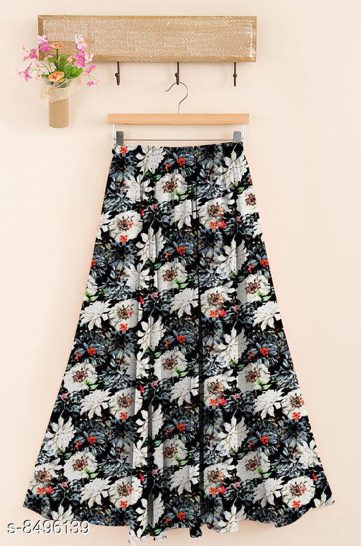Ethnic Bottomwear - Skirts  Trendy Women Western Skirt  *Fabric* Rayon  *Pattern* Printed  *Multipack* 1  *Size*   *Free Size (Waist Size* Up To 28 in To 38 in, Length Size  *Sizes Available* Free Size *    Catalog Name: Designer Trendy Women Western Skirts CatalogID_1434001 C74-SC1013 Code: 744-8496139-