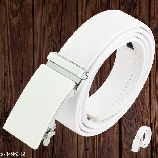 Winsome Deal Men's Formal Premium Artificial Leather Belt, With Auto Lock Buckle