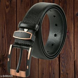 Winsome Deal Party Wear Designing Formal Artificial Leather Belt for Men's