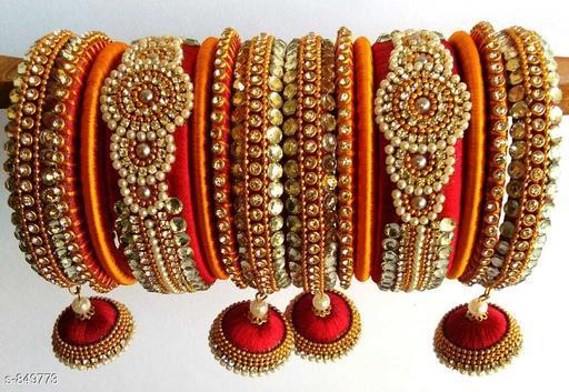Trendy Silk Threaded Bangles